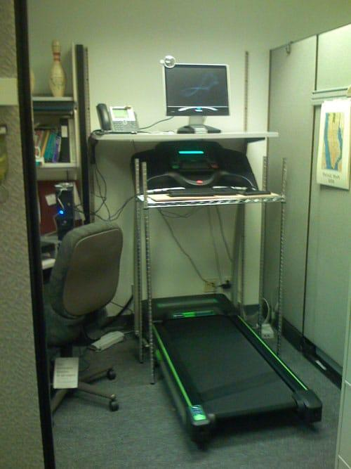 Treadmill step machine