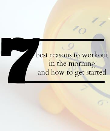 Benefits to working out in the morning