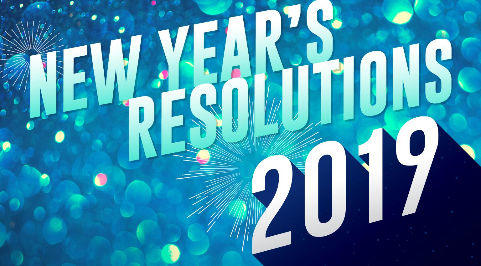 mobile version of new years resolutionist banner 2019 - blue and teal