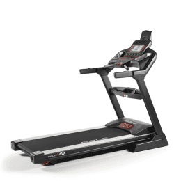 Side angle view of the Sole F80 Treadmill