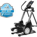 Nordictrack FS7i elliptical with a best buy badge in the top left corner