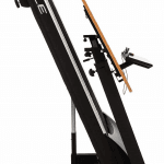 The Sole TD80 Treadmill desk up and in a folded positioned