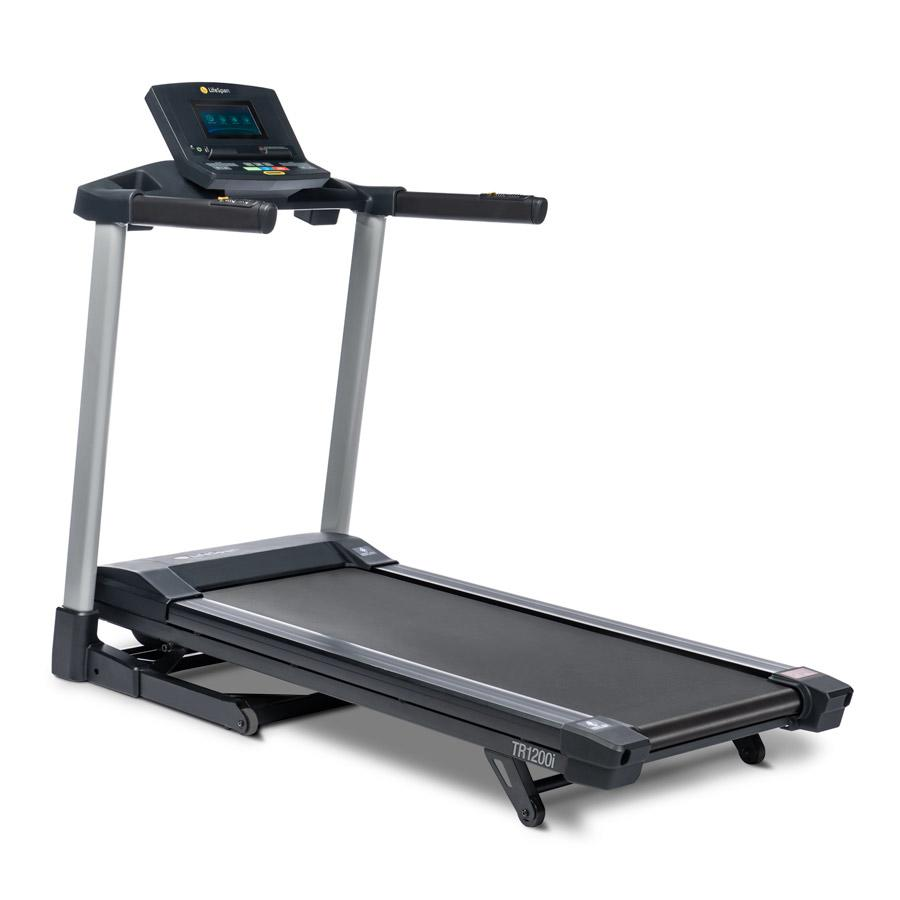 LifeSpan TR1200i treadmill three-quarter view with white background